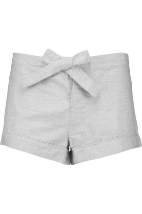 BODAS Montana brushed-cotton pajama shorts