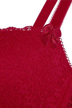 STELLA McCARTNEY Millie Drawing lace and velvet contour bra