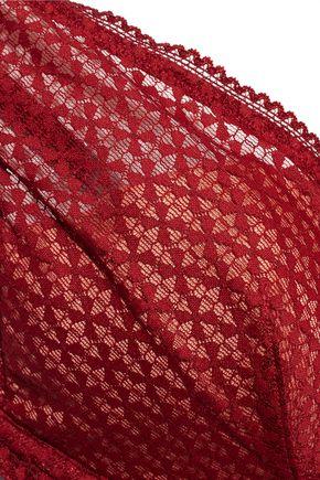 HEIDI KLUM INTIMATES A Roman Crush embroidered tulle plunge bra