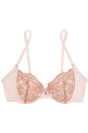 HEIDI KLUM INTIMATES Venetian Embrace corded lace and satin contour bra
