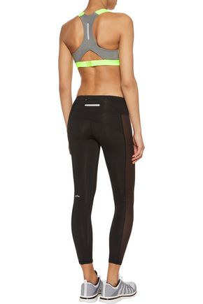 APL® ATHLETIC PROPULSION LABS Neon mesh and stretch-knit sports bra