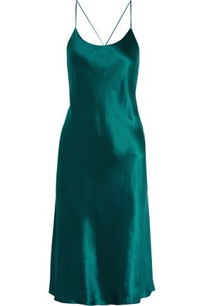 OLIVIA VON HALLE Remy silk-satin nightdress