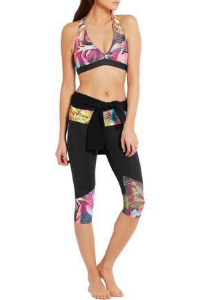 BODYISM I Am Proud printed stretch-jersey sports bra