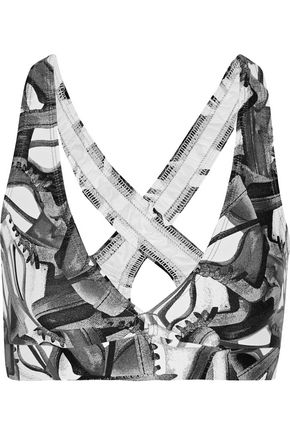 BODYISM I Am Fast printed stretch sports bra