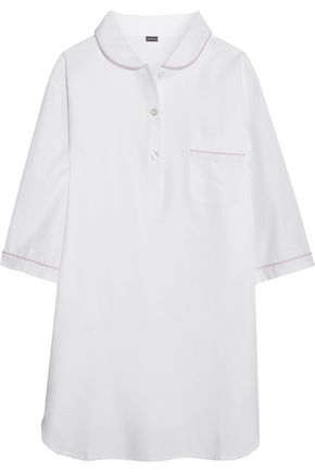 BODAS Cotton-twill nightshirt