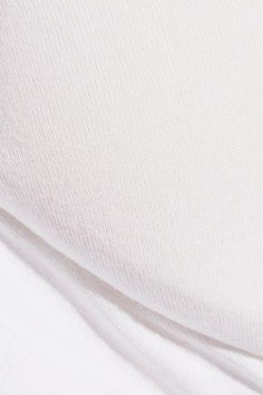 BODAS Stretch Pima cotton-jersey underwired plunge bra