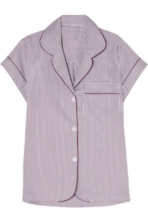 BODAS Striped cotton pajama shirt