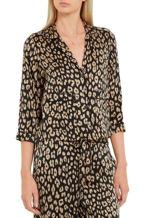 ... EQUIPMENT + Kate Moss Lake leopard-print washed-silk pajama shirt ... 4833acc6a