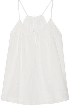 SKIN Nixon cotton-gauze pajama top