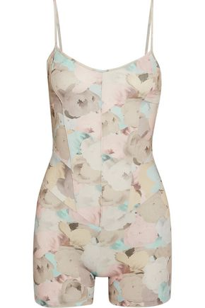 LIVE THE PROCESS Floral-print stretch-Supplex playsuit