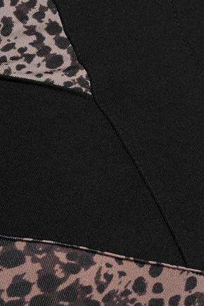 LIVE THE PROCESS Leopard-print stretch-jersey bodysuit
