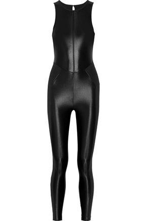 KORAL Emulate paneled coated stretch jumpsuit
