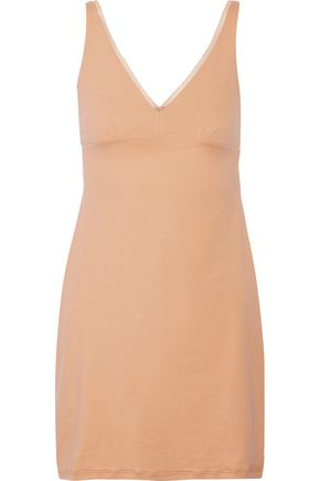 COSABELLA Nina lace-trimmed stretch-cotton chemise