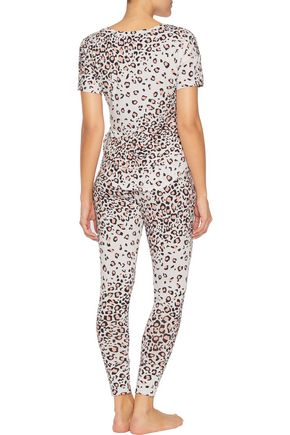 COSABELLA Wild West leopard-print stretch-jersey pajama pants