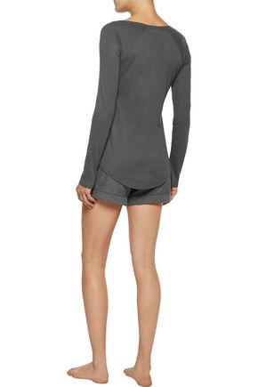 YUMMIE by HEATHER THOMSON® Pima cotton-blend jersey pajama top