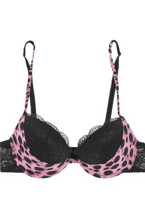JUST CAVALLI Reggiseno leopard-print silk-blend underwired padded bra