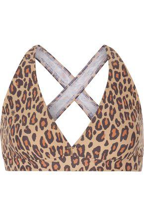 bodyism female bodyism woman charlotte olympia i am wild leopardprint sports bra brown size s
