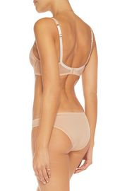 STELLA McCARTNEY Low-rise satin and mesh briefs