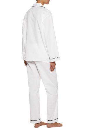 BODAS Striped seersucker pajama top