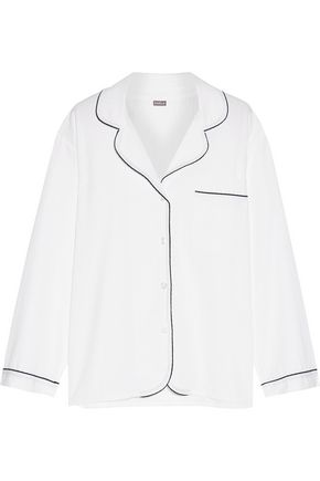 BODAS Seersucker cotton pajama top