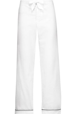 BODAS Seersucker cotton pajama pants