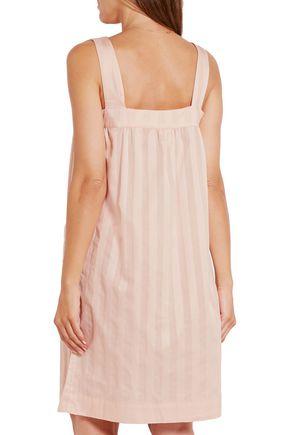 BODAS Shadow Stripe cotton-poplin nightdress