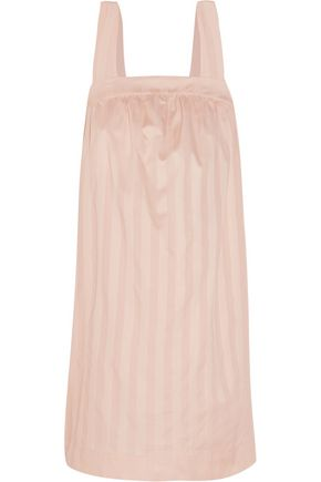 BODAS Shadow Stripe cotton-poplin nightdress