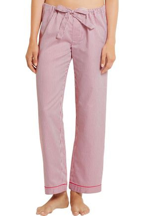 BODAS Verbier striped Swiss cotton pajama pants