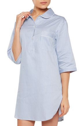BODAS Verbier striped Swiss cotton nightdress