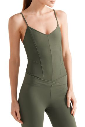 LIVE THE PROCESS Corset stretch-Supplex leotard