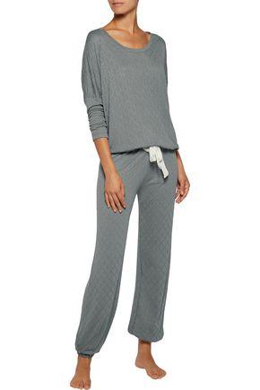 EBERJEY Earl modal-blend jersey pajama top