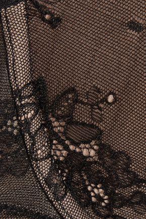 CALVIN KLEIN UNDERWEAR Daring stretch-lace and satin plunge bra