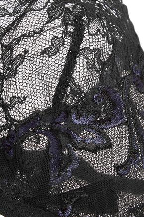 LA PERLA Secret Story embroidered Leavers lace and tulle balconette bra