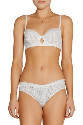 MADAME AIME Luxembourg mid-rise eyelet briefs
