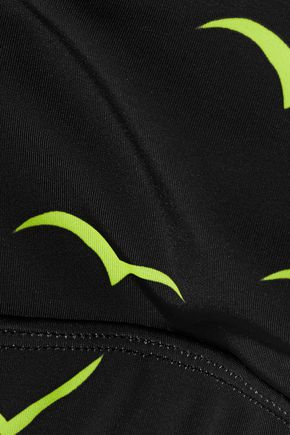 MARA HOFFMAN Printed stretch-jersey sports bra