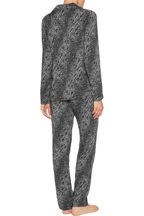 CALVIN KLEIN UNDERWEAR Printed voile pajama shirt