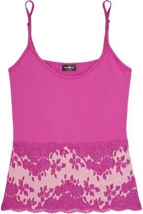 COSABELLA Lace-paneled stretch satin-jersey camisole