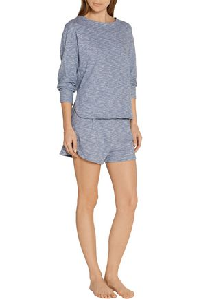 SKIN Lorelei cotton-jersey pajama top