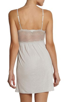 EBERJEY Colette lace-trimmed jersey chemise