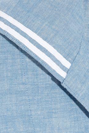 SLEEPY JONES Francine cotton-chambray pajama top
