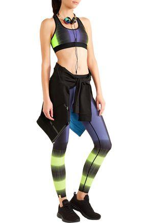 MONREAL LONDON Reversible printed stretch-jersey sports bra