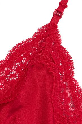 STELLA McCARTNEY Clara Whispering lace-trimmed stretch-silk soft-cup bra