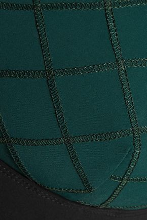 NO KA 'OI Ola color-block stretch-jersey sports bra