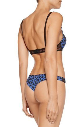 JUST CAVALLI Brasiliano mid-rise leopard-print silk-blend briefs