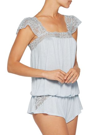 EBERJEY Golden Girl lace-trimmed jersey camisole