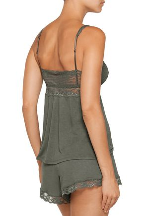 EBERJEY Francine lace-trimmed jersey camisole