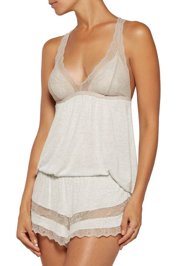 Georgette lace-trimmed jersey camisole   EBERJEY   Sale up to 70% off   THE  OUTNET