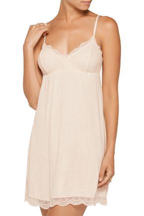 EBERJEY Bonnie lace-trimmed jersey chemise