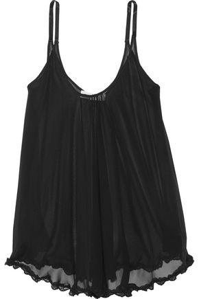 FLEUR DU MAL Silk-chiffon chemise