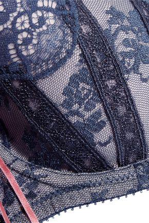 HEIDI KLUM INTIMATES Heidi lace and stretch-tulle balconette bra